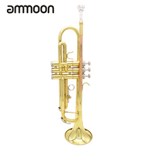 High Quality Trumpet Bb B Flat Brass Phosphor Copper Exquisite with Mouthpiece Cleaning Brush Glove Strap
