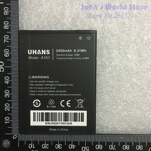 UHANS A101 A101S 2450mAh Mobile Phone 100% Original New Battery Smartphone Replacement - John's World Store store