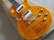 Wholesale Top new arrival Slash guitar LP Traditional Electric Guitar orange tansparent Sunburst guitar