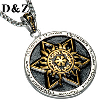 D&Z Judaism Gold Color Mogen David Necklace Casting Stainless Steel Shield of David Star Pendant Necklace for Jewish Jewelry(China)