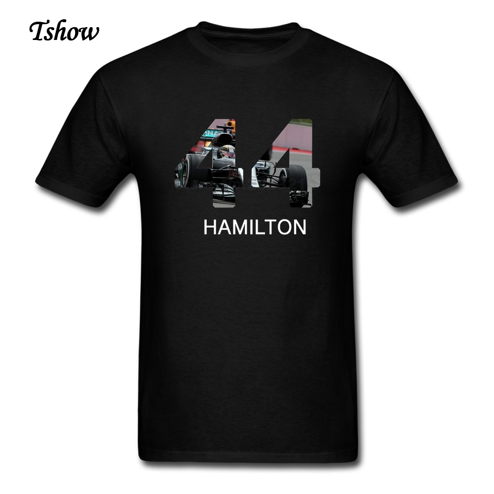 2017 Fashion Lewis Hamilton T Shirt Men's Summer Print F1 T-shirt Lewis Hamilton No.44TeenBoys Cotton XS-3XL Tee Shirt For Adult(China (Mainland))