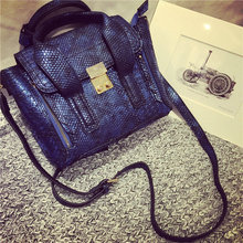 European and American Style Women's Crocodile Swing Wings Messenger Bag Handbags Crossbody Bag Snakeskin Monster Shoulder Bags