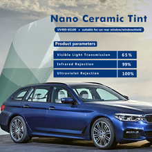 2mil thickness 100% UV Proof solar protection nano film car window film with 99% IR Rej 1.52x30m(60inx100ft)(China)