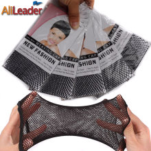 Well-Known Alileader Hairnets Good Quality Mesh Weaving Net Black Mesh Hair Net For Sleeping/Weaving Wig Cap Mesh Nylon Wig Cap
