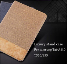 "Business Leather Case Samsung Galaxy Tab 8.0"" T350 T355 P350 P355 Tablet Support stand Cover Card Solt"