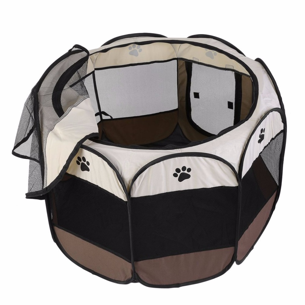 Портативный открытый съемный сложенном складной Водонепроницаемый восьмиугольная собака кошка Питомник щенок забор Оксфорд Палатки клет...(China)