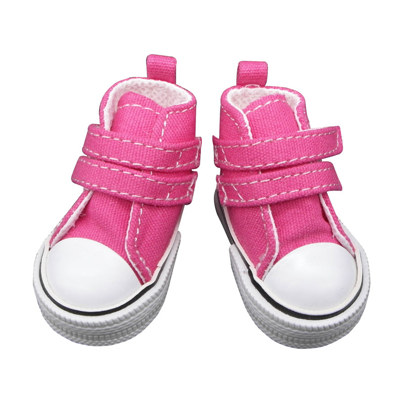 doll shoes bright pink