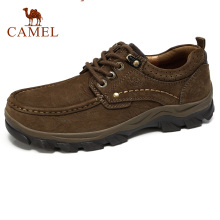 CAMELMen 가 야외 Wearable Non-slip Matte Genuine Leather Daily 큰 캐주얼 Man Shoes 양각 소 신발쏙 ~(China)
