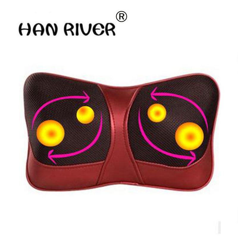 Car home heating kneading massage pillow cervical spine massager General multifunctional massage cushion for leaning on<br>