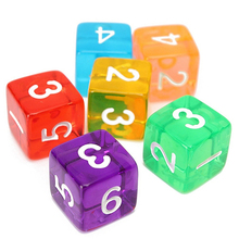 7 Pcs Polyhedral Dices Toy Role Playing Board Game Prop Translucent Acrylic Dice Set
