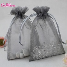 50pcs Organza Bag 12*10cm H Shape Jewelry Pouch Gift Bags High Quality Wedding Favors and Gifts Box Candy Box 22Colors