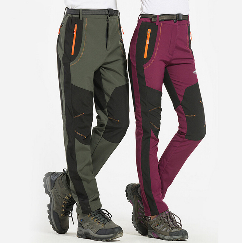 New Trekking Pants Men Windproof Climbing Waterproof UV Protection Trousers Outdoor Sport Camping Windstopper Softshell Pants<br>
