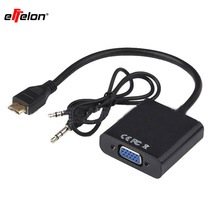Effelon Mini HDMI To VGA Male to Female Adapter Converter For Notebook Laptop Monitors(China)