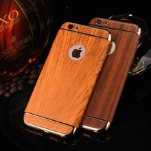 360 Full Body Wood Protective Case for iPhone 6 6s Plus 7 7Plus Cover 3 in1 Design Detachable Plastic Hard Phone Sleeve Fundas