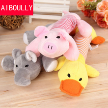 Dog Pet Puppy Plush Sound Dog Toys Pet Puppy Chew Squeaker Squeaky Plush Sound Duck Pig & Elephant Toys(China)