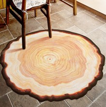 Tapis Non-slip Chair Mat Antique Wood Tree Annual Ring Round Environmental Carpet For Living Room Bedroom Study Room Plush Rug(China)