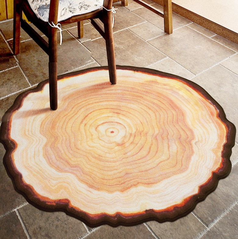 Tapis Non-slip Chair Mat Antique Wood Tree Annual Ring Round Environmental Carpet For Living Room Bedroom Study Room Plush Rug(China (Mainland))