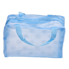 LeTing Hot Sale New Fashion Floral Transparent Waterproof Cosmetic Portable Makeup Bag Toiletry Travel Wash Pouch Organizer Bag
