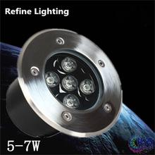 LED Outdoor Floor RGB 5w Round Underground Light Aluminium Grondspots Tuin Patio Pavers LED Buried Lamp Waterproof Deck Lights(China)