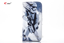 C-ku Star Wars Flip Wallet Leather Case For iPhone 6 6S Plus 5 5S SE 4 4S 4G Credit Cards Stand Holster TPU Phone Cover 1pcs(China)