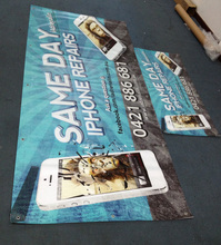 Outdoor Fence Mesh Banner / PVC Banner in Roll,Hem and Grommet Added