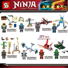 8building blocks Masters Spinjitzu Green Red Ninja Series New Season bricks baby games kids children toys iluminador - Shop3014007 Store store