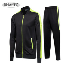 Soccer jacket training suit jacket long sleeve sports suit men Soccer Jerseys custom printed high-grade fabrics(China)