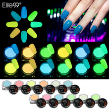 Elite99 1g/box 12colors Night Glow Pigment Powder Nail Night Glow Powder Gradient Pigments Dust Nail Art Decorations