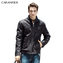CARANFIER New Brand Winter Mens Leather Jackets Casual Men Vintage Motorcycle PU Faux Jacket Male Outerwear Coats Autumn Jacket(China)