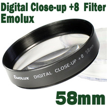 Professional Emolux 58mm+8 Close Up Digital camera Camcorder Filter For Samsung Pentax Sony Nikon Canon Olympus closer object(China)
