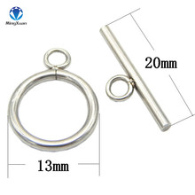 20sets/lot Stainless Steel OT Toggle Clasp Hook Rings Connectors for DIY Necklaces & Bracelets Jewelry Making(China)
