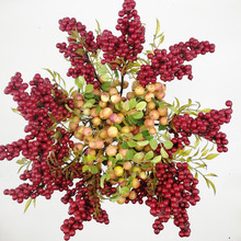Artificial flower Christmas berries and fruit the new type fake plant wedding decoration for home Christmas essential decor(China)