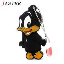 JASTER Cartoon daffy duck USB flash drive  pendrive 32GB 16GB 8GB 4GB USB 2.0 cute animal Flash Memory Stick U Disk mini gift