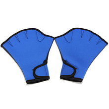 1 Pair Swim Fins Hand Surfing Frogs Webbed Flippers Gloves Half fingers Paddles Training For Swimming(China)