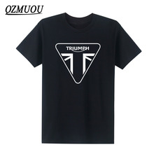 New Fashion TRIUMPH T Shirts MOTORCYCLE Classic Tour Flag Logo Men's T-Shirt Casual Designs O Neck Tops Tees  Size XS-XXL
