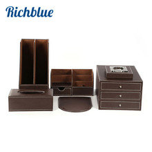 Ever Perfect Desk Set Pen Pencil Holder Paper File Cabinet Storage Box For Study Office T02(China)