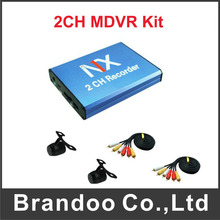 2CH mini vehicle DVR D1 resolution with remote control For taxi bus dvr(China)