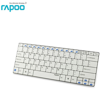 Free Shipping Rapoo Ultra-slim Mini Wireless Keyboard Bluetooth 3.0 for Apple iPad/iPhone Series/Mac Book/Samsung Phones/Tablets
