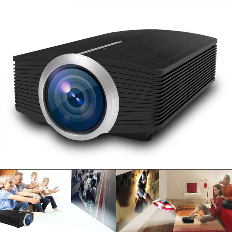 YG500 Universal HD1920x1080 Resolution LED Pocket Projector for Home and Entertainment Support 120 Inch Large Screen Projection