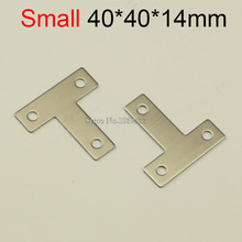 10PCS 40*40mm stainless steel furniture corners angle bracket T shape metal frame board support fastening fittings K275