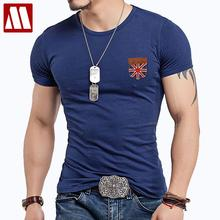 Fitness False pocket T Shirt Men Designer Clothes Cross Flag Leather TShirts Male Military Casual T-Shirts O Neck Slim Fit Tops