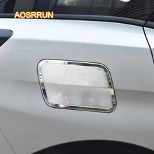 AOSRRUN Safety cover of the fuel tank is covered with an ABS cover with a matte finish Car accessories FOR Peugeot 4008 5008