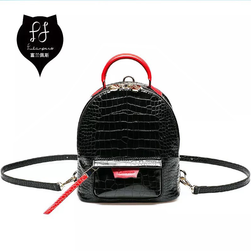 Female Backpacks Fashion Mini Alligator Black Back Waterproof School Top Quality Bags Backpacks Women Backpack Mochila Menina<br>