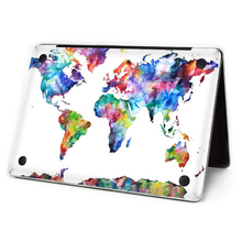 "2016 World Map Laptop Sticker Bottom Side Full Vinyl Decal Skin For Apple Macbook Air11""13"" Retina/Pro 13""15"" New12"" Wholesales(China)"