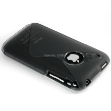 For Apple iPhone 3 3G 3GS S-Line TPU Soft Silicone Shockproof Mobile Phone Case Cover
