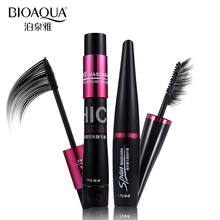 2pcs/lot BIOAQUA 3D Fiber Mascara Makeup Set Eyelash Extension Lengthening Volume Black Silk Mascara Waterproof Cosmetics(China)