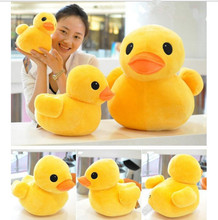 Plush stuffed toys, big yellow duck plush toys, stuffed duck doll for children, cotton soft, 20cm ducks, free shipping(China)