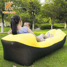 Camping lazy bag inflatable air sofa laybag sleeping bag adult beds air lounge chair Fast Inflatable nylon air sofa
