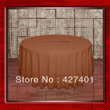 "108""R Burnt Orange 210GSM Polyester plain Table Cloth For Wedding Events & Party Decoration(Factory Direct Sales)"
