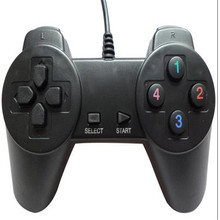 New Popular Black Wired USB Game Pad Joystick Joypad Controller For PC Computer Game Playing Accessories